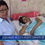 Chiclayo: Joven madre necesita urgente donantes de sangre