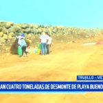 Limpieza Playas: Retiran 4 toneladas de desmonte de playa Buenos Aires