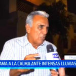 Defensa Civil: César Flores llama a la calma ante intensas lluvias