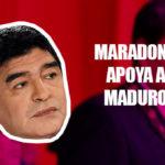 Diego Maradona con Nicolás Maduro