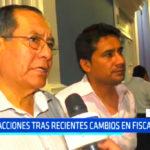 Regidores municipales opinaron tras recientes cambios en la Fiscalía