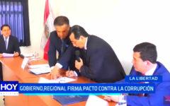 Gobierno Regional firma pacto contra la corrupción