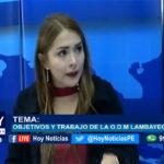 Chiclayo: En Hoy Noticias entrevistamos a Pilar Efus directora de la ODM Organización Democrática Mundial, Por el desarrollo – Lambayeque