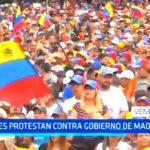 Venezuela: Miles de opositores protestan contra gobierno de Maduro