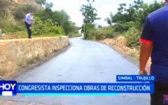 Gloria Montenegro: Congresista inspecciona obras de reconstrucción