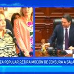 Fuerza Popular retira moción de censura a Salaverry