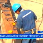 Alarmantes cifras de enfermedades y accidentes laborales