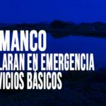 Samanco: Declaran en emergencia servicios básicos