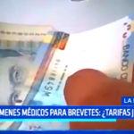 Informe Especial: exámenes médicos para brevetes ¿Son las tarifas justas?