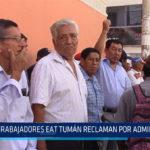 Chiclayo: Trabajadores EAT Tumán reclaman por administración
