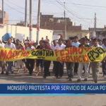 Chiclayo: Monsefú protesta por servicio de agua potable