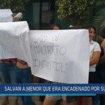 Chiclayo: Salvan a menor que era encadenado por su madre
