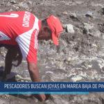 Chiclayo: Pescadores buscan joyas en marea baja de Pimentel