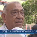 """Chiclayo: """"Veo falta de voluntad, la tarea municipal es sencilla"""""""