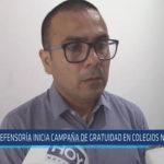 Chiclayo: Defensoría inicia campaña de gratuidad en colegios nacionales