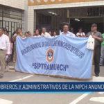 Chiclayo: Obreros y administrativos de la MPCH anuncian paro