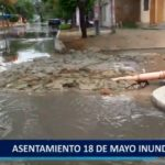 Piura: A.H 18 de Mayo inundado por colapso de Desagües.