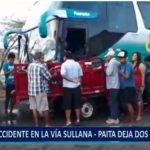 Piura: Accidente en la vía Sullana – Paita deja dos fallecidos