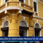 Piura: Balcón se desploma producto de las lluvias