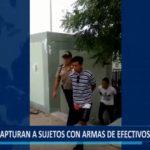 Piura: Capturan a sujetos con armas de la Policía