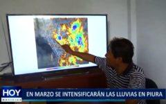 Piura: En marzo se intensificarán las lluvias