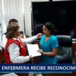 Piura: Enfermera recibe reconocimiento por ayudar a niños aislados