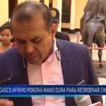 Chiclayo: Gasco afirmo pondrá mano dura para reordenar Chiclayo