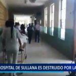 Piura: Hospital de Sullana es destruido por las intensas lluvias