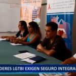 Piura: Líderes LGTBI exigen seguro integral de salud