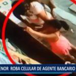 Piura: Menor de edad roba celular de agente bancario