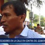 Piura: Pescadores protestan en contra del gobierno central