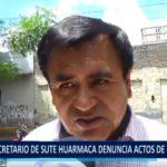 Piura: Secretario de Sute Huarmaca denuncia actos de corrupción