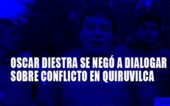 Alcalde Gabriel Alipio demanda diálogo en Quiruvilca