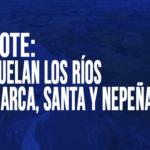 Chimbote: Sobrevuelan los ríos Lacramarca, Santa y Nepeña
