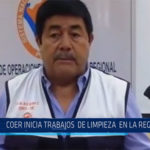 Chiclayo: COER empieza trabajos de limpieza en la región