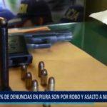 Piura: El 48% de denuncias son por asalto a mano armada