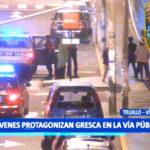 Trujillo: Jóvenes protagonizan gresca en la vía pública