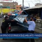 Chiclayo: Inician operativo de erradicación de ambulantes y paraderos informales