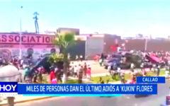 "Callao: Miles de personas dan el último adiós a ""Kukín"" Flores"