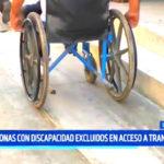 Trujillo: Personas con discapacidad excluidos en acceso a transporte