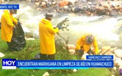 La Libertad: Encuentran marihuana en limpieza de río en Huamachuco