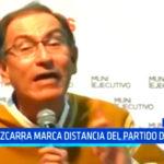 Martín Vizcarra marca distancia del partido de PPK