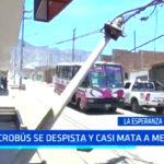 Trujillo: Microbús se despista y casi mata a una menor de edad