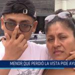 Chiclayo: Menor que perdió la vista pide ayuda
