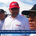 Chiclayo: Ministro Alfaro inspecciona zonas afectadas por lluvias