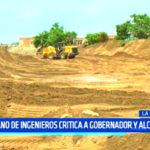 Decano del Colegio de Ingenieros critica a gobernador y alcaldes
