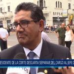 Chiclayo: Presidente de la corte descarta separar del cargo al jefe de la Odecma
