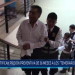 Chiclayo: Ratifican prisión preventiva de 36 meses a Los temerarios del crimen
