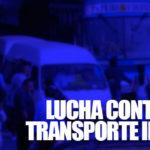 Realizan operativos contra transporte informal
