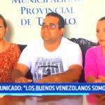 Venezolanos piden disculpas por mal accionar de sus compatriotas